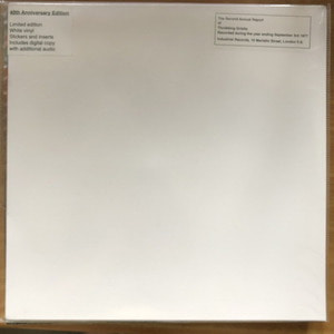 Throbbing Gristle /The Second Annual Report Of Throbbing Gristle(미개봉 white vinly)